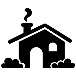 House Icon Silhouette clipart, cliparts of House Icon Silhouette.