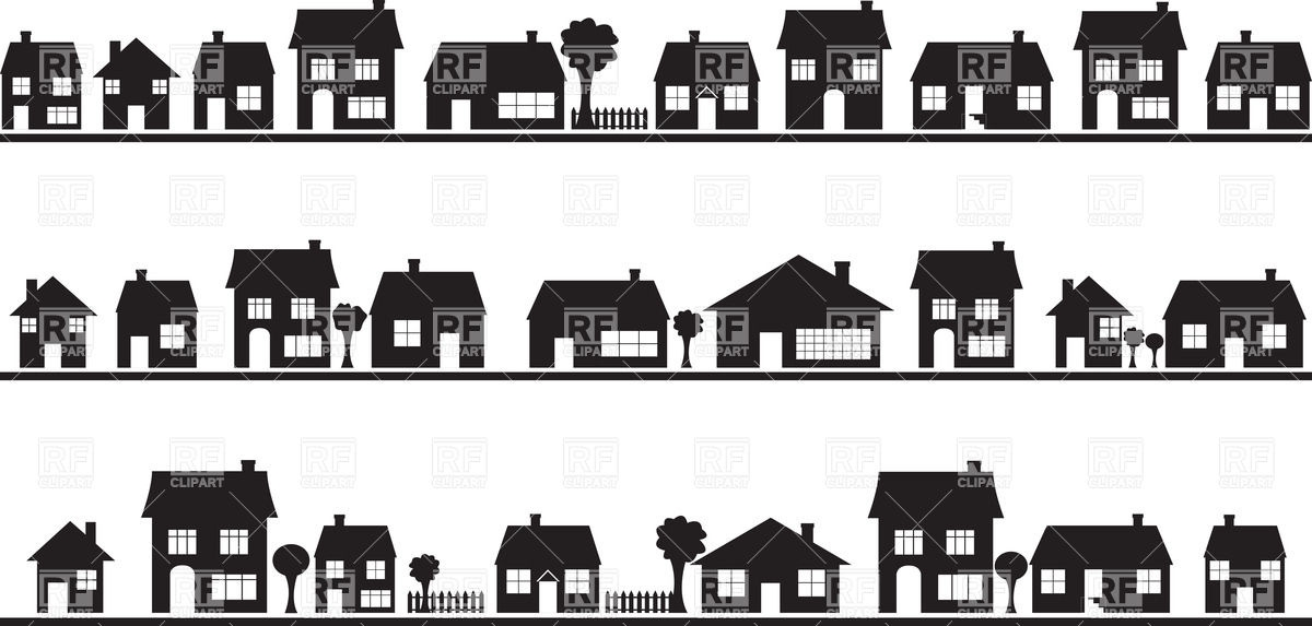 Free Clipart House Silhouette.