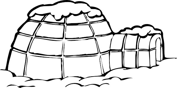 Ice Snow House Polar clip art Free vector in Open office drawing.