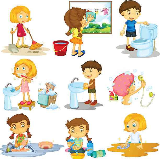 1309 Chores free clipart.