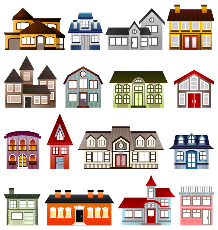 Free Clipart: Simple Houses.