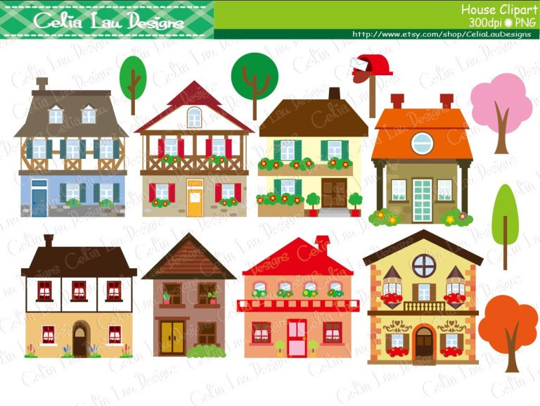 2149 Houses free clipart.