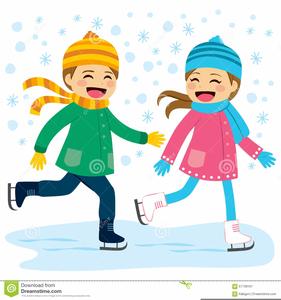 Girl Ice Skater Clipart.