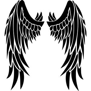 Angel wings clipart, cliparts of Angel wings free download (wmf, eps.
