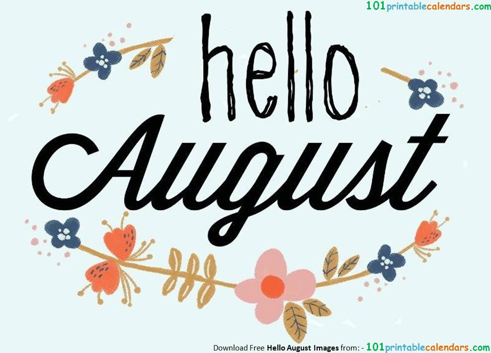 August Clipart Free.