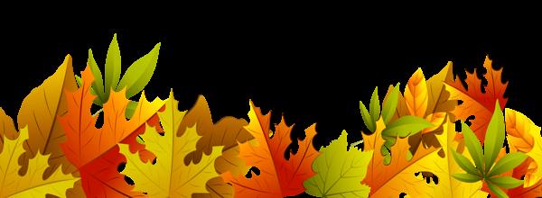 Decorative Autumn Leaves PNG Clipart.