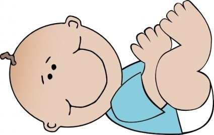 Baby Boy Lying clip art Clipart Graphic.
