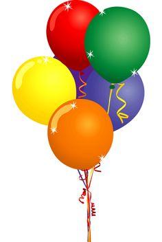 Happy Birthday Balloons Clipart.