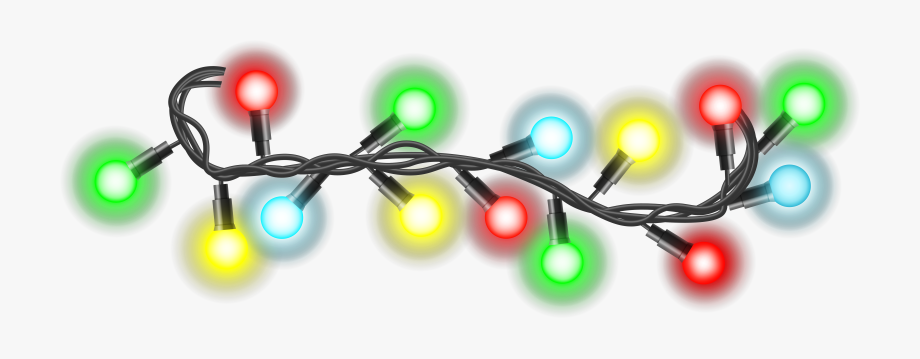 Christmas Lights Clipart Line Picture.