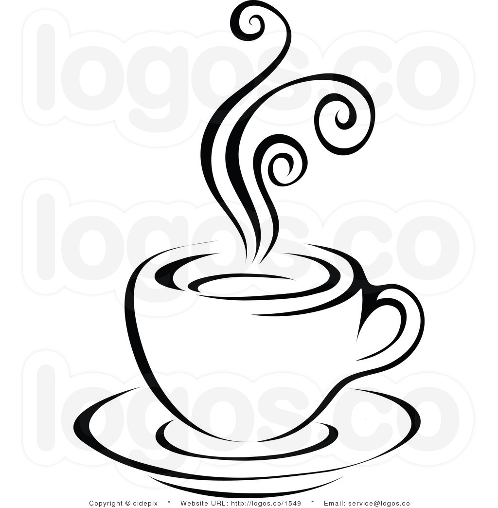 Coffee Cup Clip Art Black White.