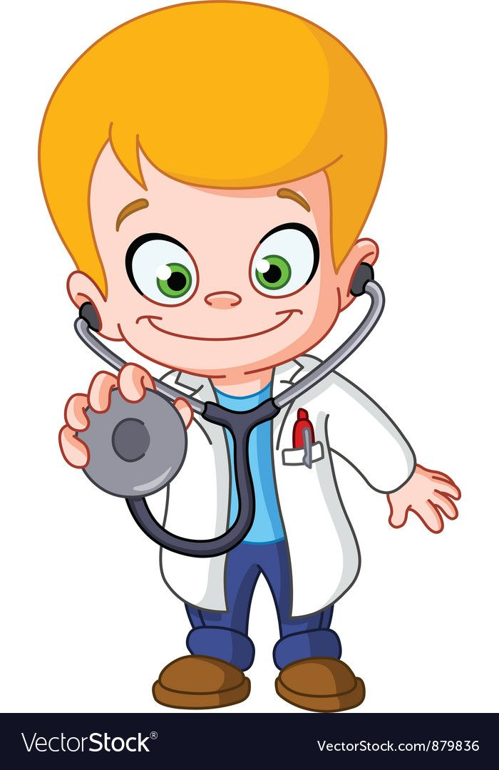 Kid doctor Royalty Free Vector Image.