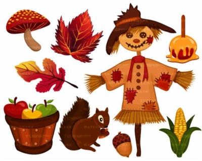 fall season , Free clipart download.