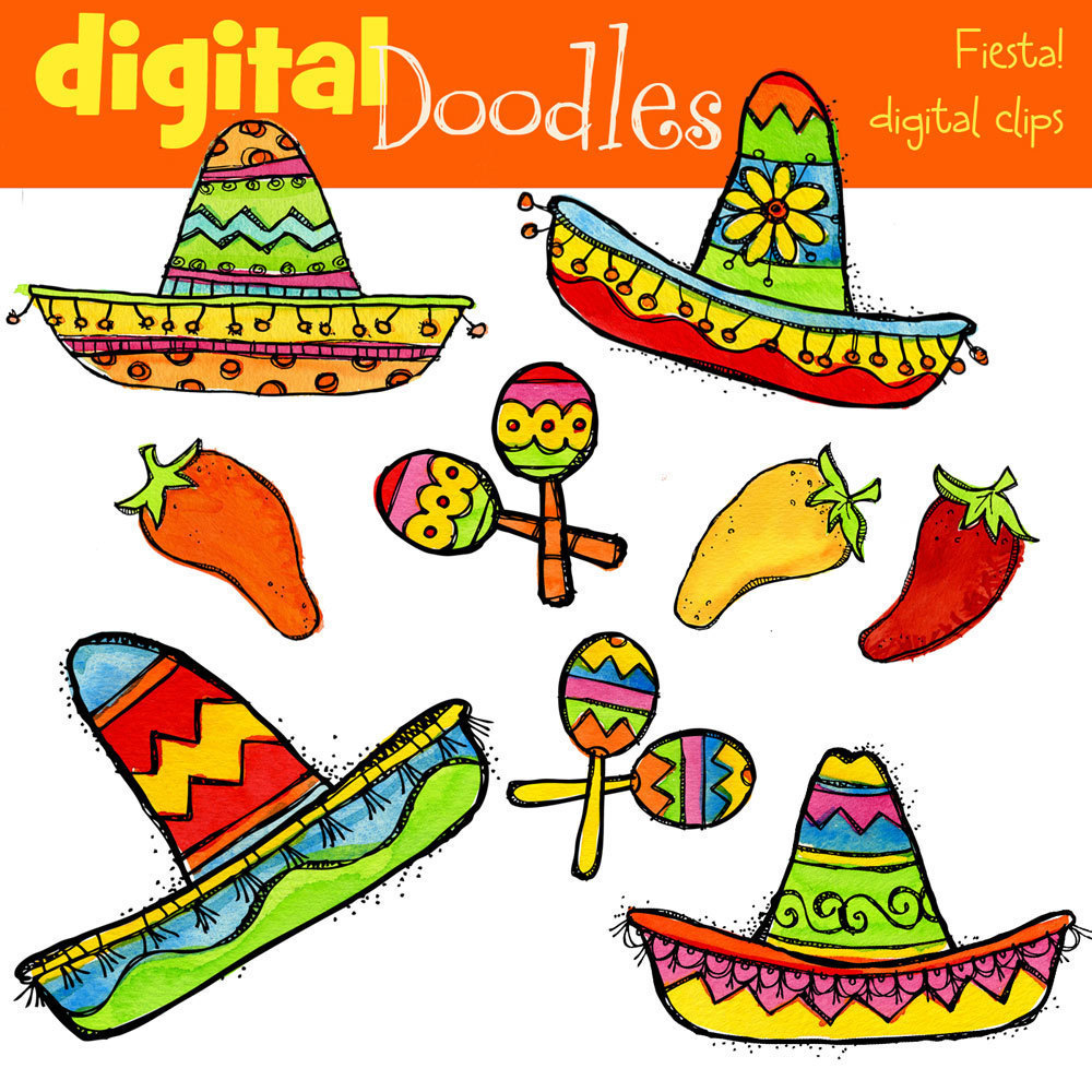 Mexican Fiesta Party Free Clipart.