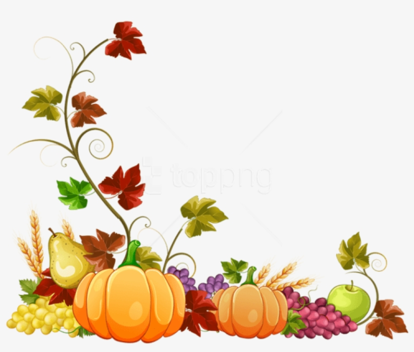 Free Png Download Autumn Pumpkin Decoration Clipart.