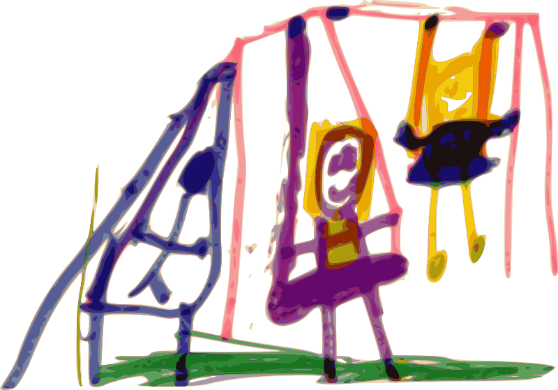 Free Clipart: Kindergarten Art Swing.