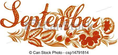 month of september clip art.