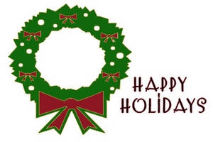 Happy Holidays Free Clipart.