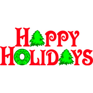 Happy holidays free clip art.