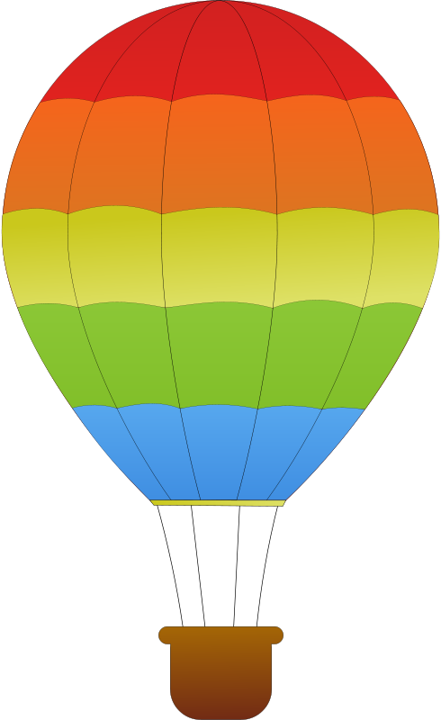 Free Clipart: Horizontal Striped Hot Air Balloons.