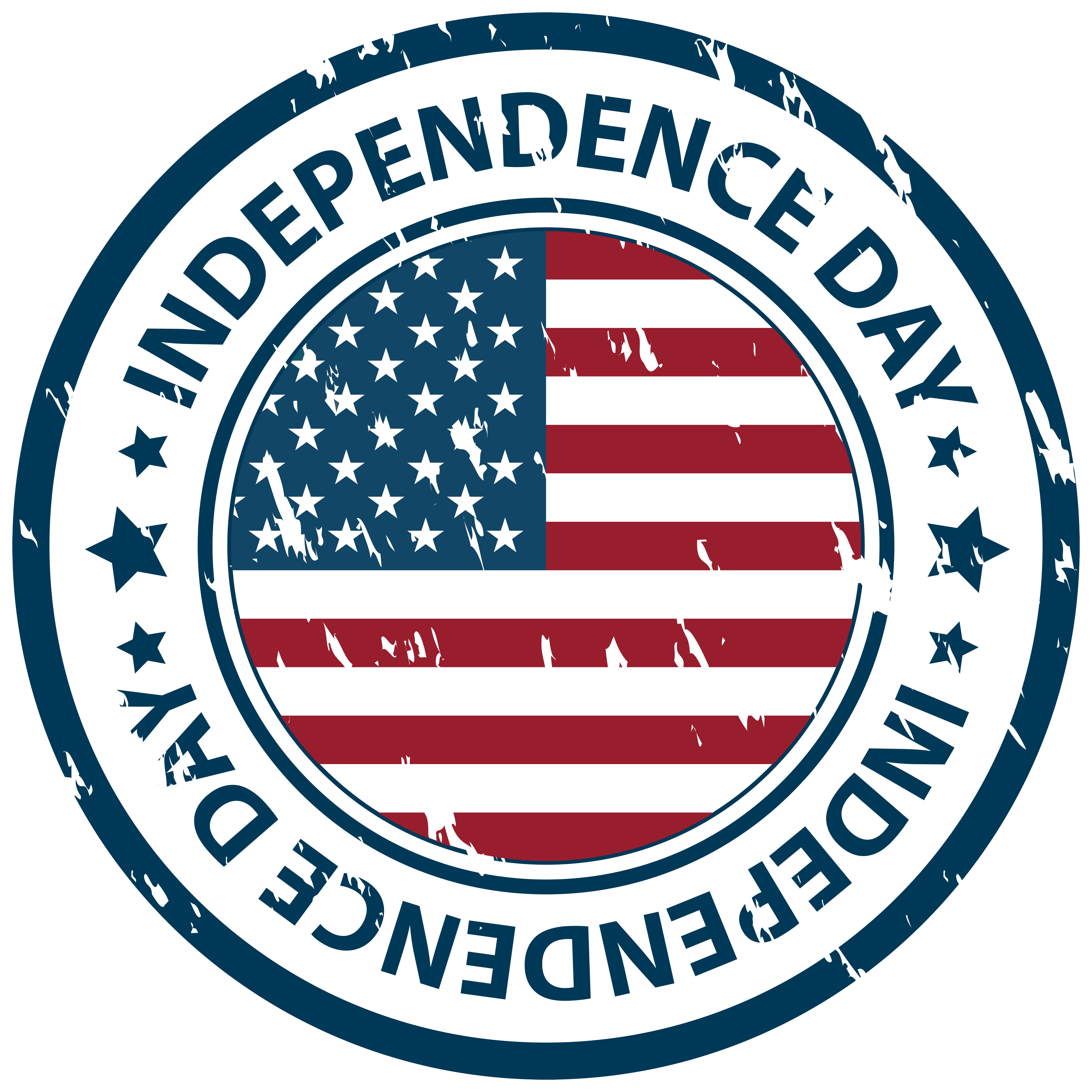 Independence Day Stamp PNG Clip Art Image.