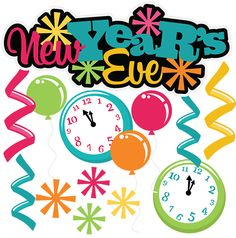 New Year\'s Eve 2016 Clipart.
