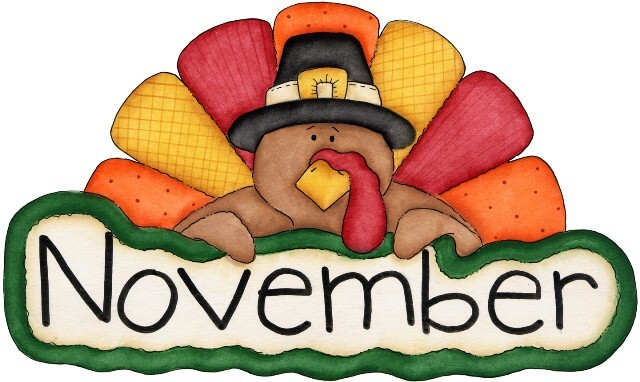 Free clipart for november clipartxtras.