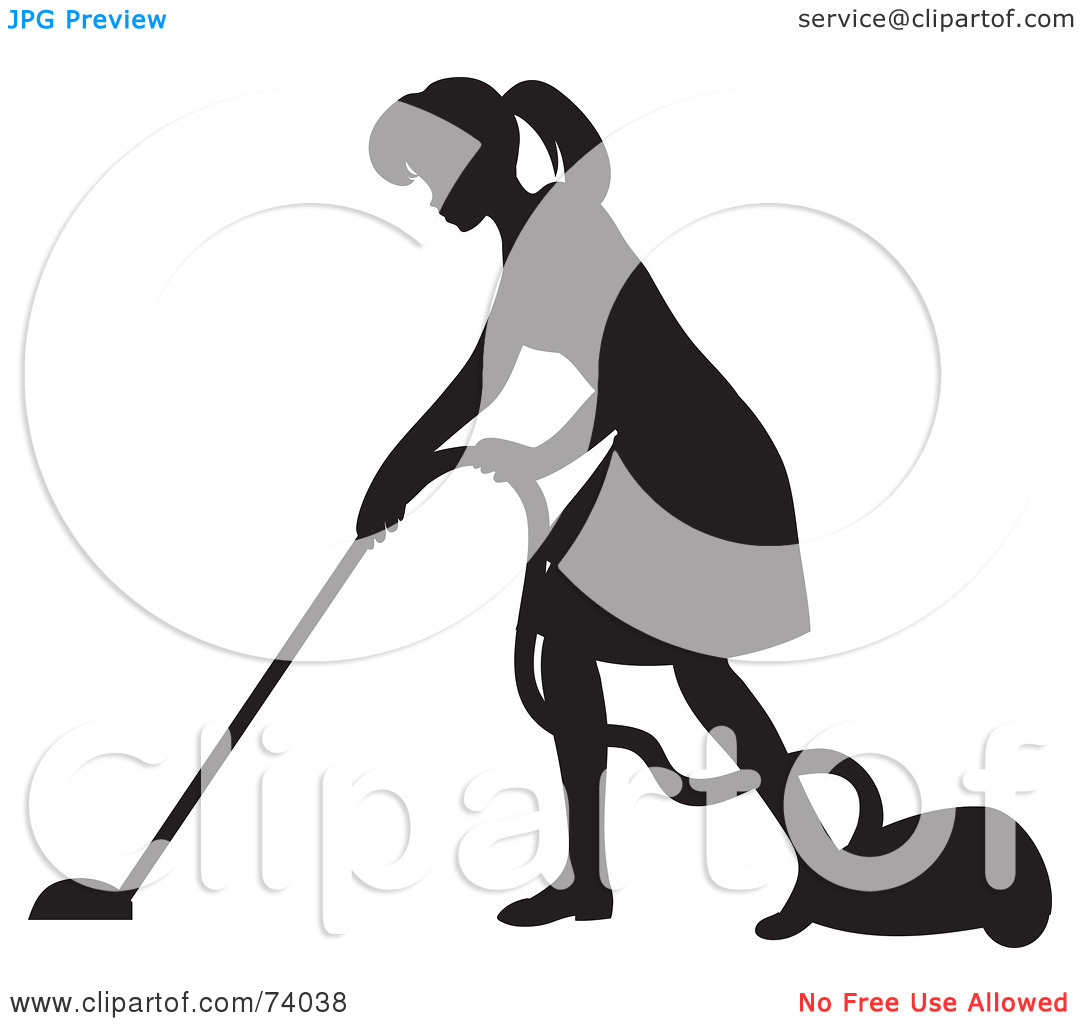 Free Clipart Images Of A Man Vacuuming No Watermarks.
