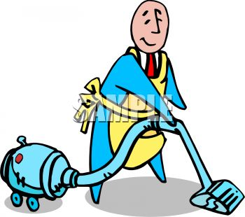 Free Clipart Images Of A Man Vacuuming.