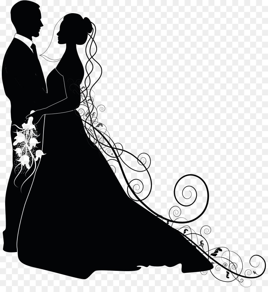Bride And Groom png download.
