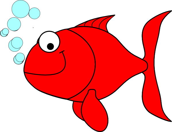 Red fish clip art free free clipart images.