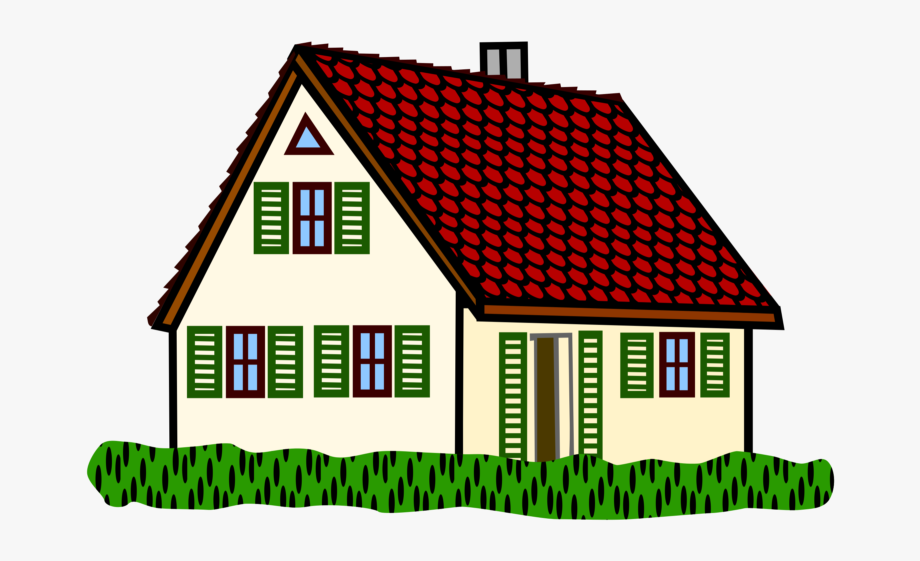 See Here House Clipart Black And White Png.