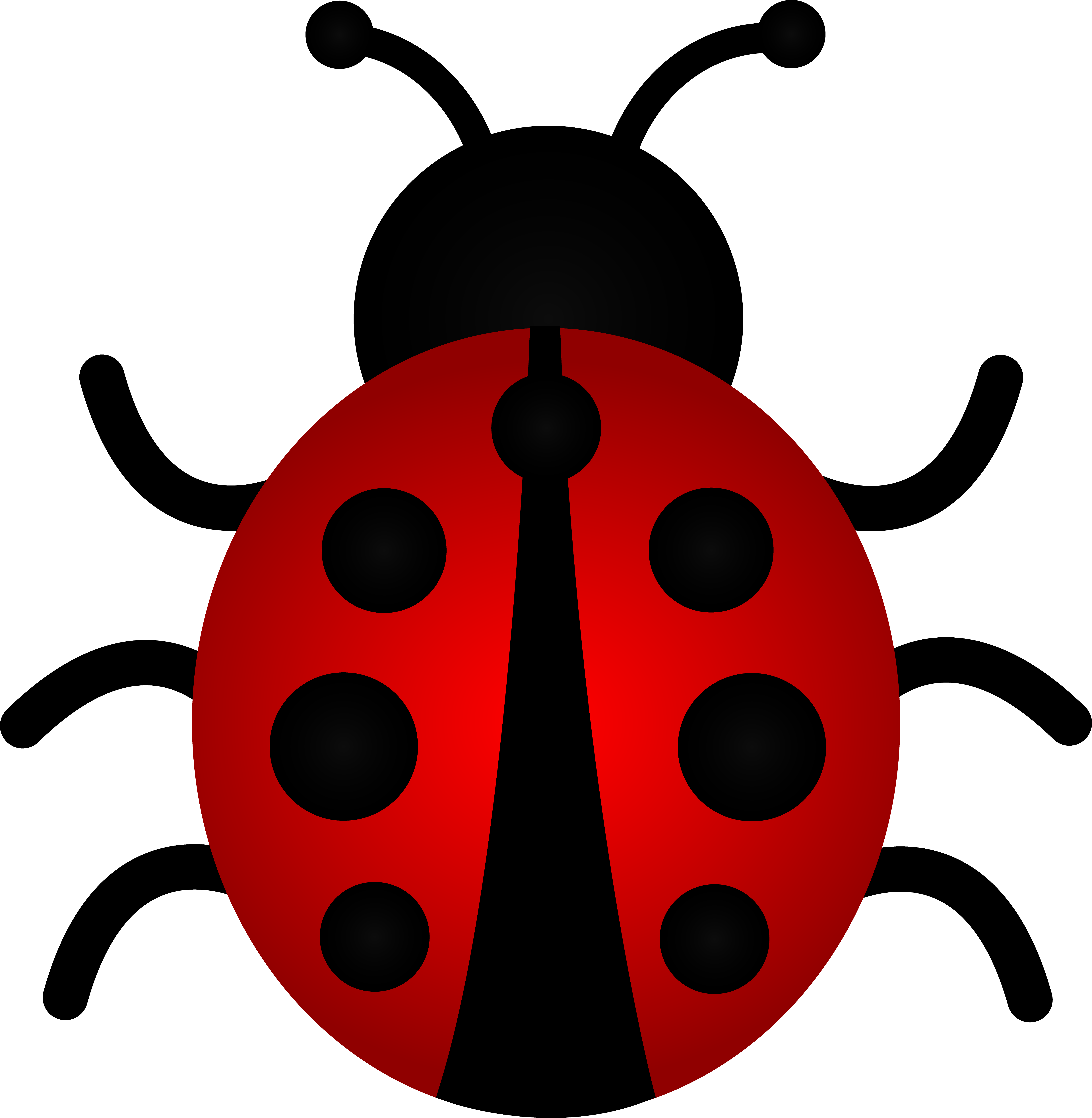 Ladybug Clip Art Border.