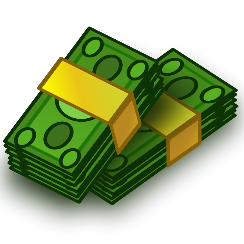 Free Clipart: Money wads.