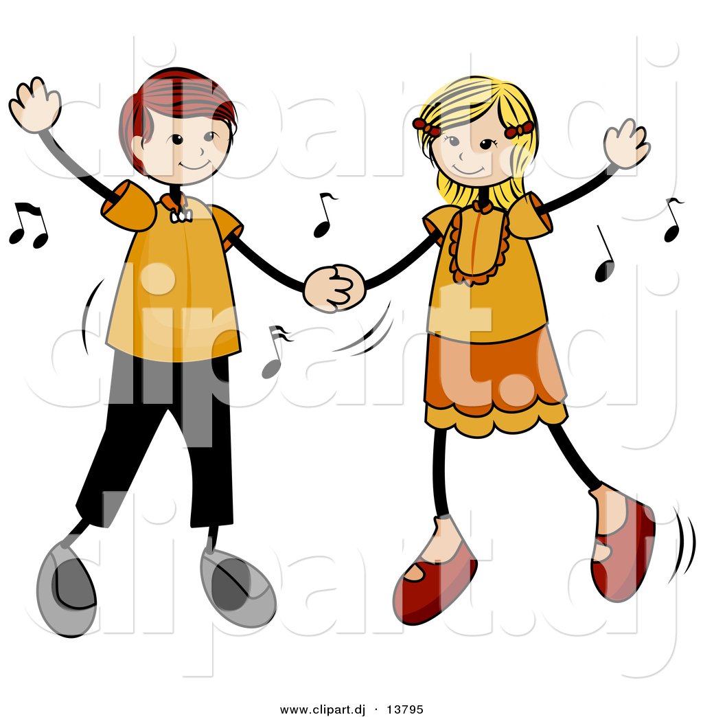 Dancing Stick People Clipart Free.