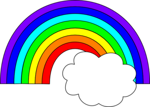 Rainbow Clipart Outline.