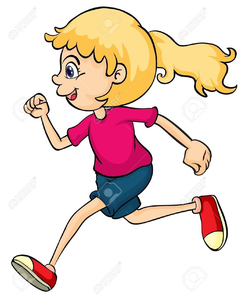 Free Clipart Of Teenage Boy Running.