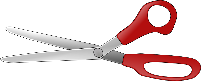 Free Clipart: Scissors open V2.