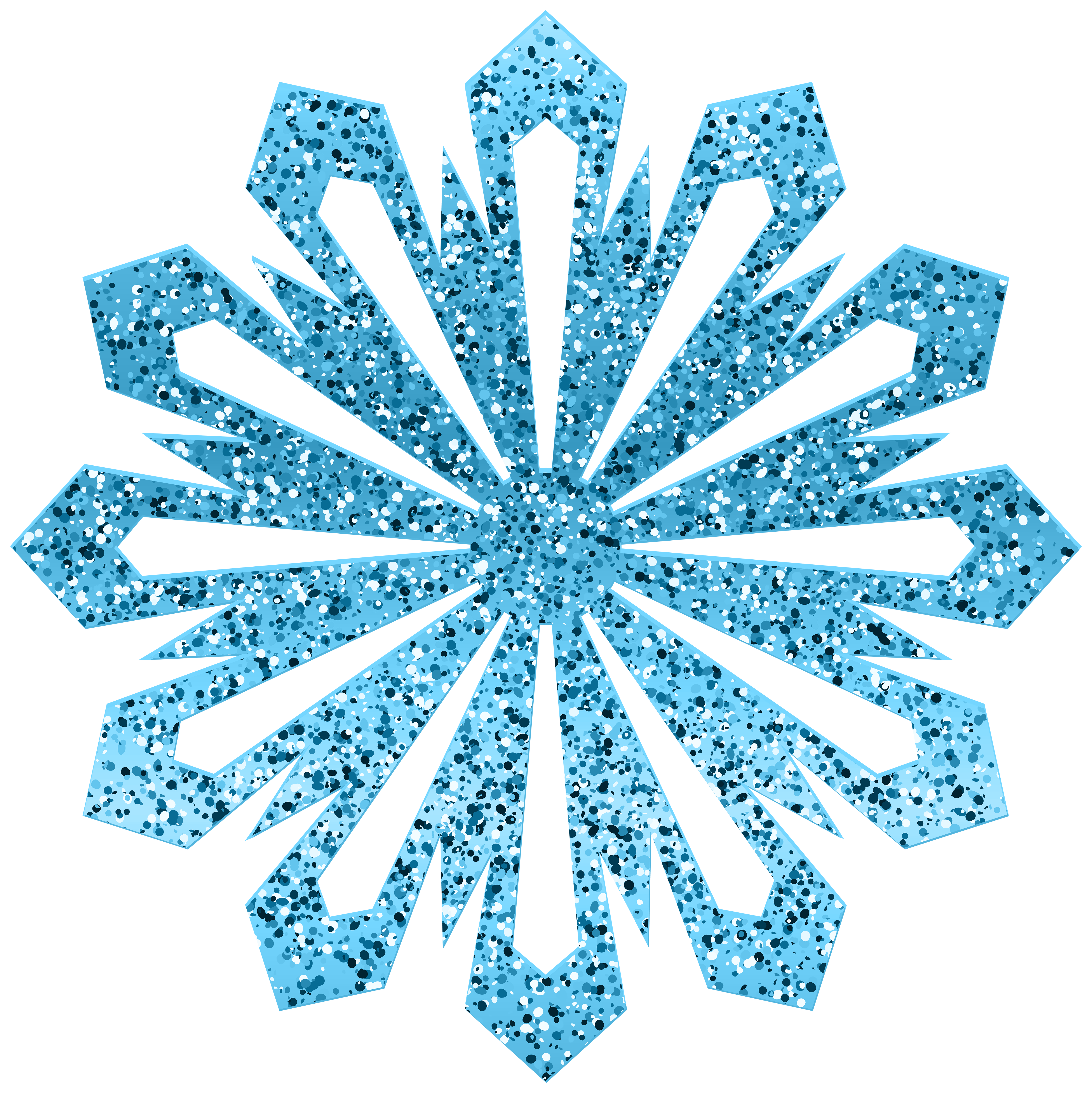 Blue Shining Snowflake PNG Clipart.