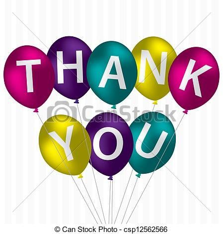 Clip Art Vector of Thank You.