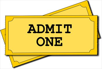 Free Clipart Images Movie Ticket.