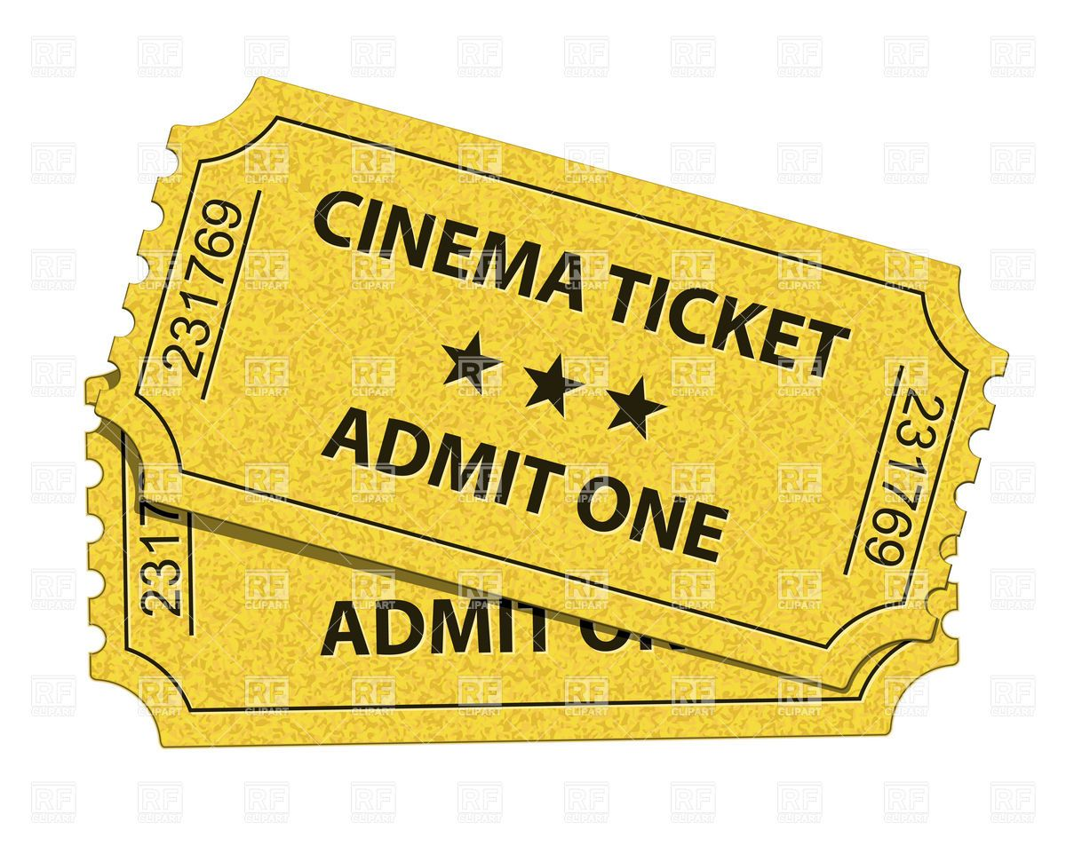 Old cinema tickets Stock Vector Image.