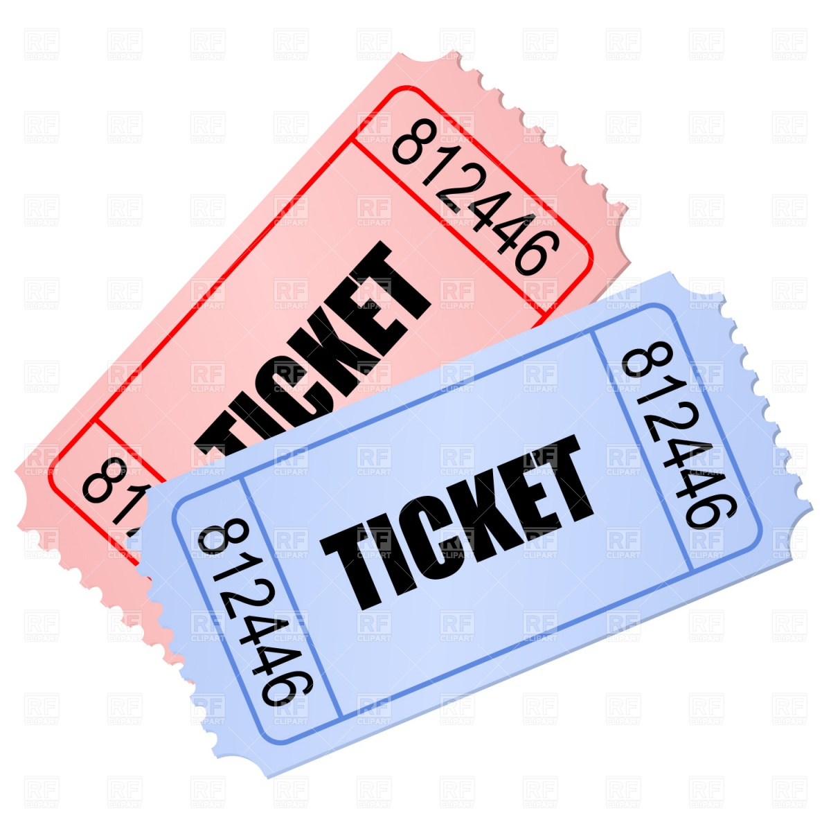 Free Clipart Of A Ticket.