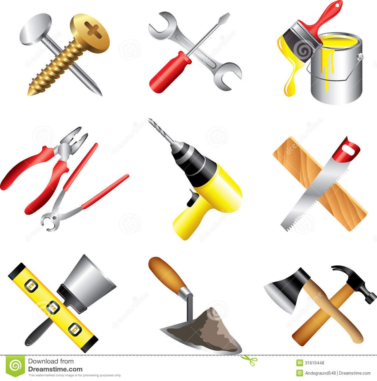 Building Tools Clipart.