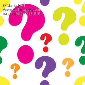 Colorful Question Marks.