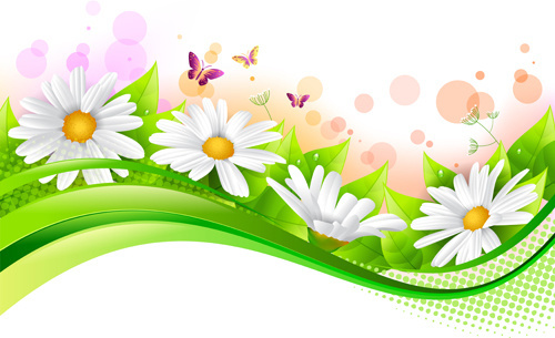 1136 Spring Flowers free clipart.