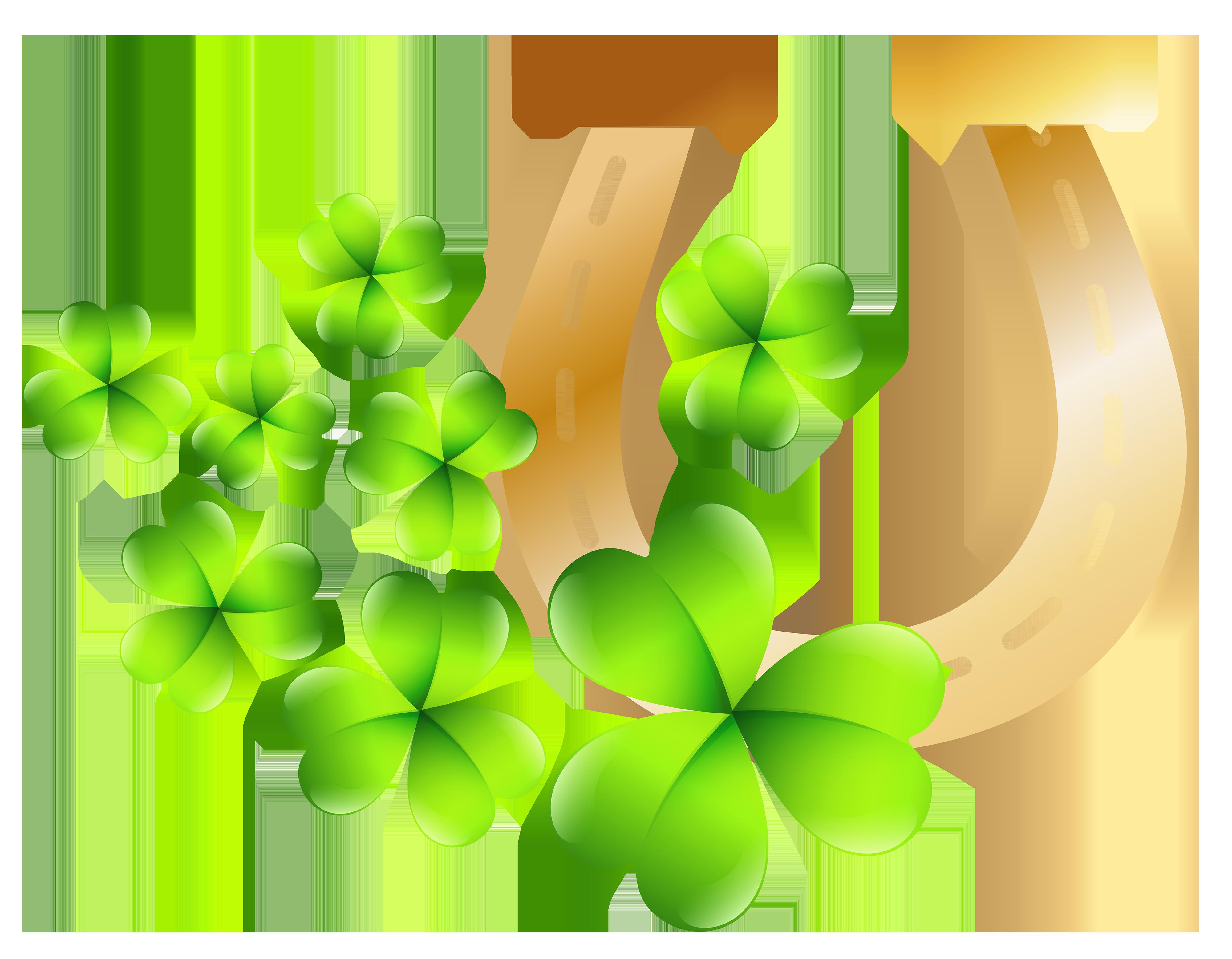 St Patrick\'s Day Horseshoe PNG Clip Art Image.
