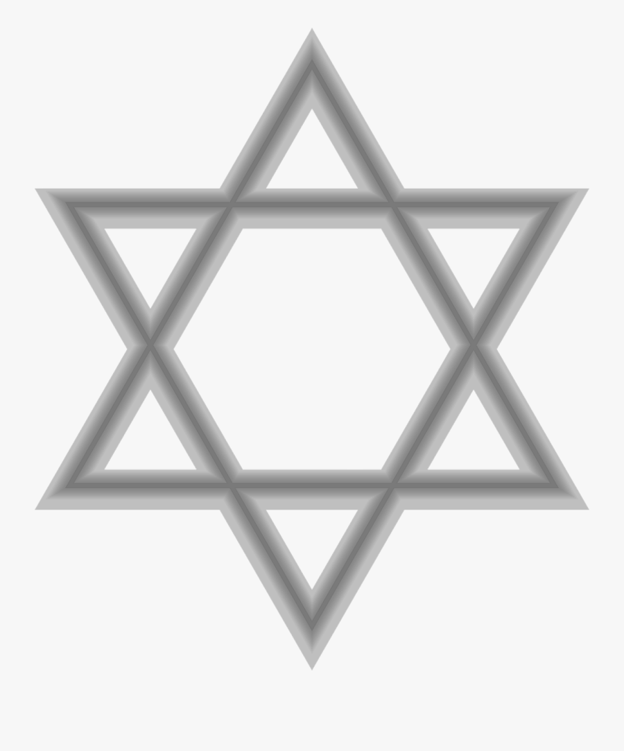Star Of David Gray , Free Transparent Clipart.