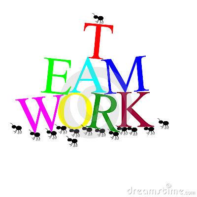 Teamwork Clipart Illustrations.