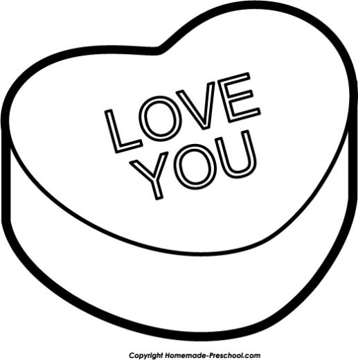 Valentine's Day Clip Art Black And White.