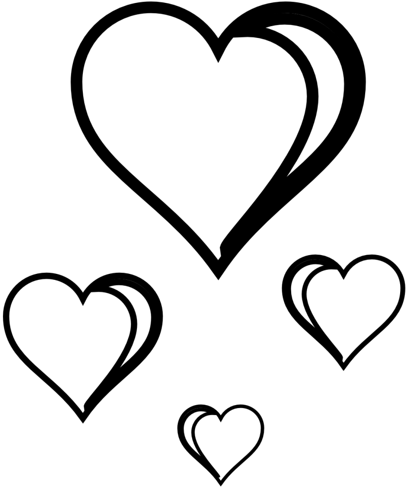 Best Black And White Heart Clipart #20629.